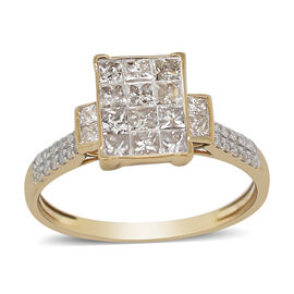 14K Yellow Gold Diamond Ring 1.00 ct, Gold Wt. 2.85 Gms