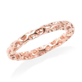 RACHEL GALLEY Allegro Collection  - Rose Gold Overlay Sterling Silver Lattice Band Ring
