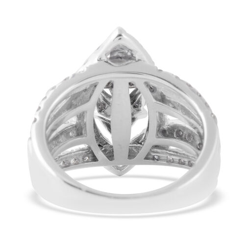 NY Close Out Deal 14K White Gold Diamond (Rnd) (I1-I2/G-H) Ring  2.01 Ct, Gold wt 9.10 Gms