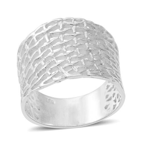 Sterling Silver Weave Net Ring, Silver wt 5.63 Gms.