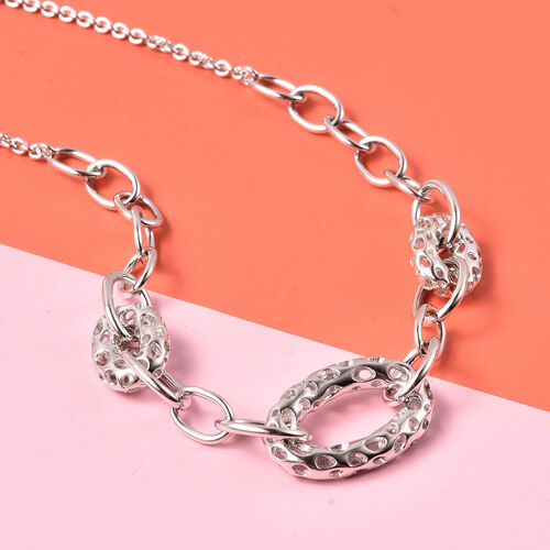RACHEL GALLEY Lattice Collection Rhodium Overlay Sterling Silver Necklace (Size 20)