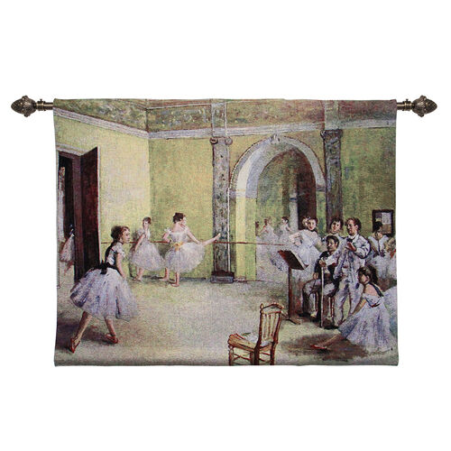 Signare Tapestry - Degas The Dance Foyer at the Opera Wall Hanging (89x69cm)