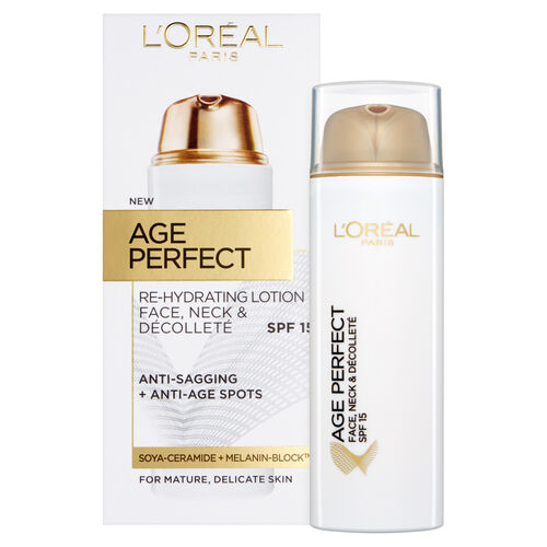 LOreal Paris Age Perfect Face, Neck & Decollete Lotion SPF15 50ml