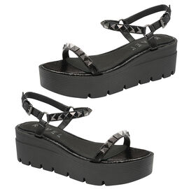 Ravel Manilla Flatform Sandals  in Black Colour
