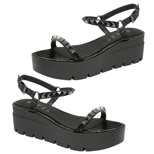 Ravel Manilla Flatform Sandals (Size 4) - Black