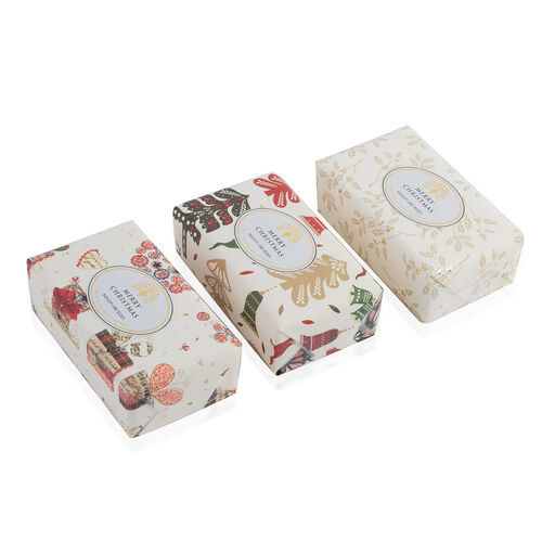 The English Soap Company: Vintage Christmas Wrapped Soap Collection - Merry Christmas, Reindeer and