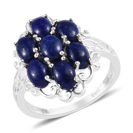 Lapis Lazuli (Ovl) Ring (Size L) in Sterling Silver 3.75 Ct.