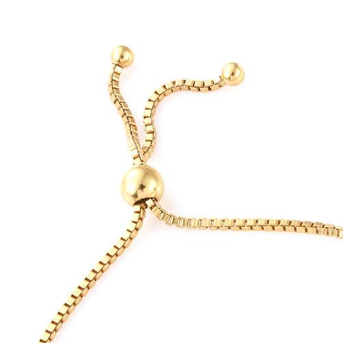 Swarovski Zirconia (3.00 Ct) 14K Gold Overlay Sterling Silver Bracelet (Size 7.5)  3.000  Ct.