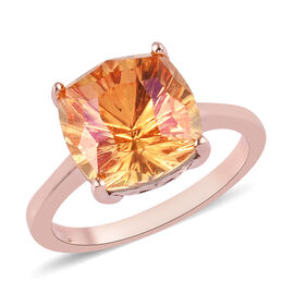 J Francis Crystal from Swarovski Astral Pink Crystal Ring in Rose Gold Overlay Sterling Silver