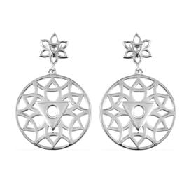RACHEL GALLEY Chakra Collection - Rhodium Overlay Sterling Silver Drop Earrings (with Push Back)