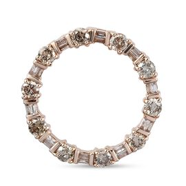 SGL Certified 9K Rose Gold Champagne Diamond (I3) Circle of Life Pendant 1.00 Ct.