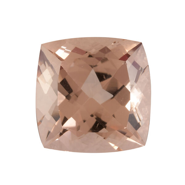 AAA Morganite Cushion 12.02x12.01x7.56 Faceted 6.60 Cts
