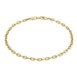 9K Yellow Gold Rambo Bracelet (Size 7.25) , Gold Wt. 1.00 Gms