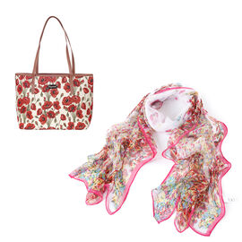 Signare Tapestry - Poppy Tote Bag with FREE SCARF