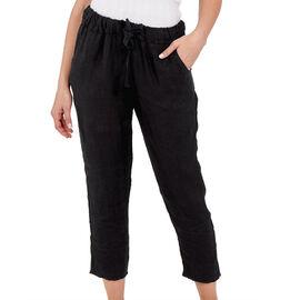 NOVA of London Linen Trousers in Black (Size 10-16)