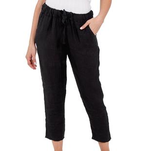 NOVA of London Linen Trousers in Black (Size 8-14)