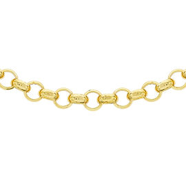 Italian Made- 9K Yellow Gold Belcher Necklace (Size 20), Gold wt 6.79 Gms.