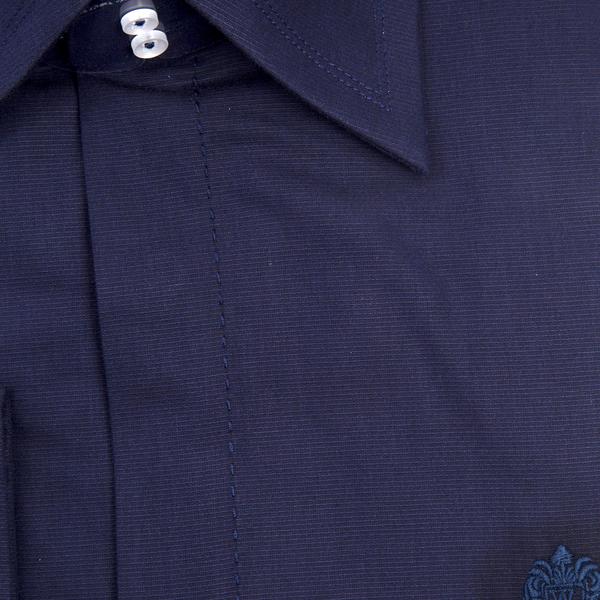 William Hunt - Saville Row Forward Point Collar Dark Blue Shirt (Size 16)