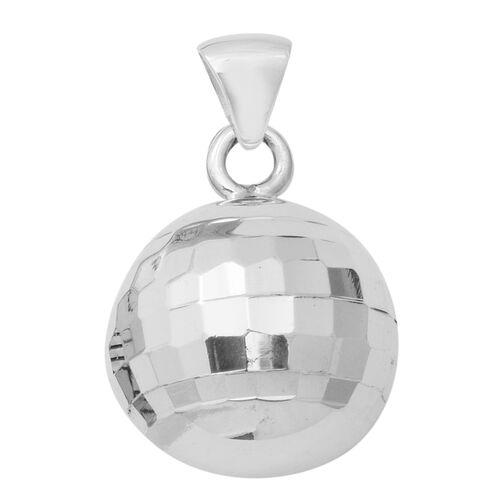 Diamond Cut Ball Pendant in Sterling Silver 9.62 Grams