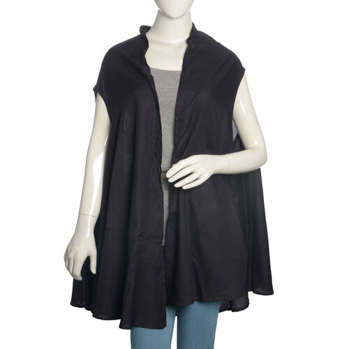 Black Colour Round Vest (Free Size)