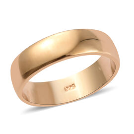 5mm Plain Band Ring in Gold Plated Sterling Silver 3.14 Grams