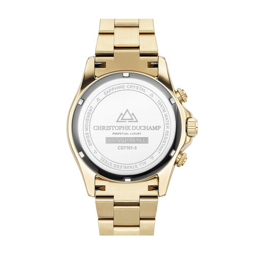 Christophe Duchamp Grand Mont Gold Watch with Black Dial