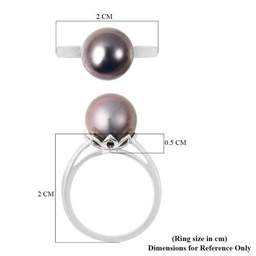 Galatea Pearl- Tahitian Pearl Sterling Silver Ring