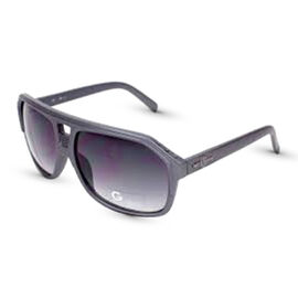 MENS GREY PLASTIC AVIATOR WITH GREY LENSES