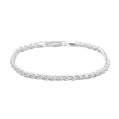 Sterling Silver Spiga Bracelet (Size 7), Silver wt 6.20 Gms.