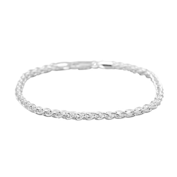 Sterling Silver Spiga Bracelet (Size 7) with Lobster Clasp, Silver wt 6.20 Gms.