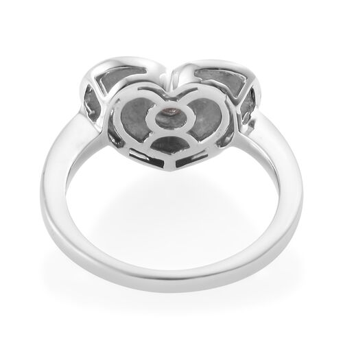 Designer Inspired - Diamond (Rnd) Heart Ring in Platinum Overlay Sterling Silver