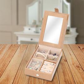 Grace Collection - Lizard Skin Pattern Rectangular Shaped  Anti-Tarnish Jewellery Box with Extendabl