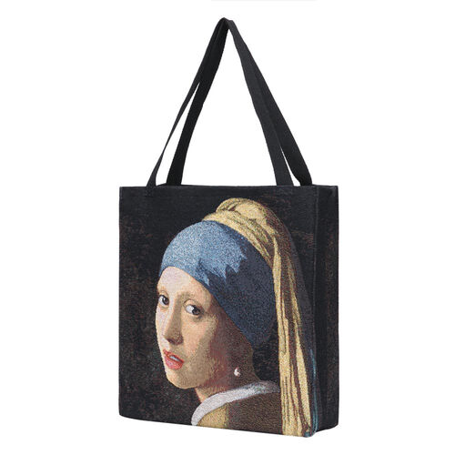 Signare Tapestry - 2 Piece Set - J. Vermeer Art Girl with a Pearl Earring Crossbody Bag (33x8x34cm) and Gusset Bag (22x5x17cm) in  Multi Colour