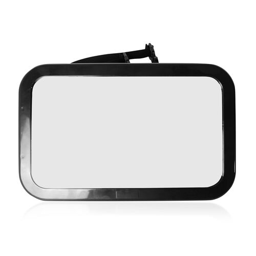 Black Colour Back Seat Car Baby Mirror (Size 30x19 Cm)