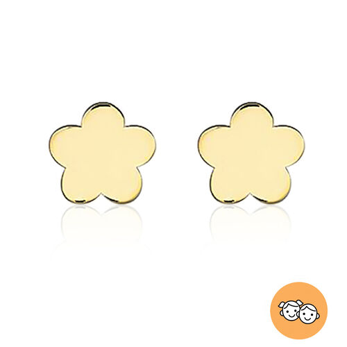 Children Flower Stud Earrings in 9K Yellow Gold