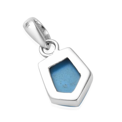 Blue Howlite Pendant in Sterling Silver 3.14 Ct.