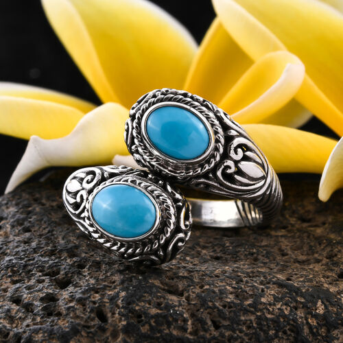 Royal Bali Collection Sleeping Beauty Turquoise Ring in Sterling Silver,2.50 Ct