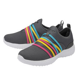 Gola Mira Slip On Trainer in Grey and Multi Colour