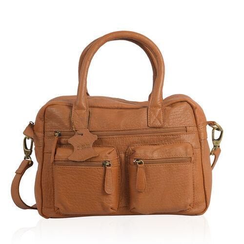 100% Super Soft New Zealand Genuine Leather Multi Compartment Satchel Shoulder bag with Detachable a