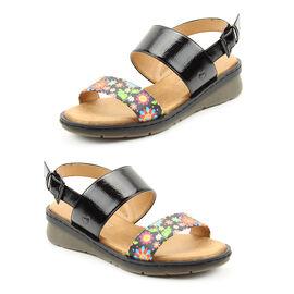 Heavenly Feet Sabrina Sandal (Size 3)- Black Multi