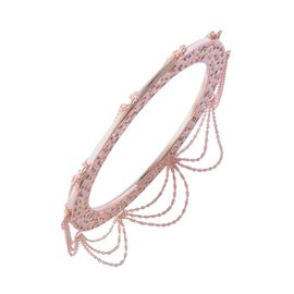 RACHEL GALLEY Enkai Sun Tassel Bangle in Rose Gold Plated Sterling Silver 38.56 Grams Size 8 Inch
