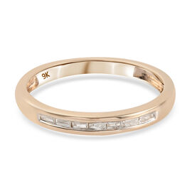 9K Yellow Gold  White SGL Certified Diamond (I3/G-H) Band Ring