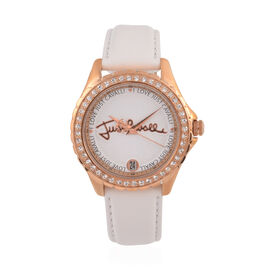 JUST CAVALLI: Classic Water Resistant Watch with Leather Strap