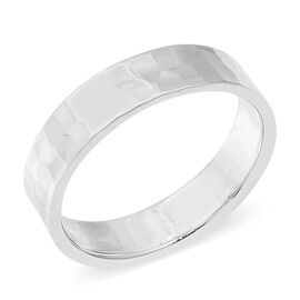 Italian Made - Sterling Silver Hammer Design Ring