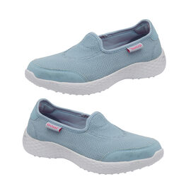 Gola San Luis Slip On Trainer in Powder Blue Colour