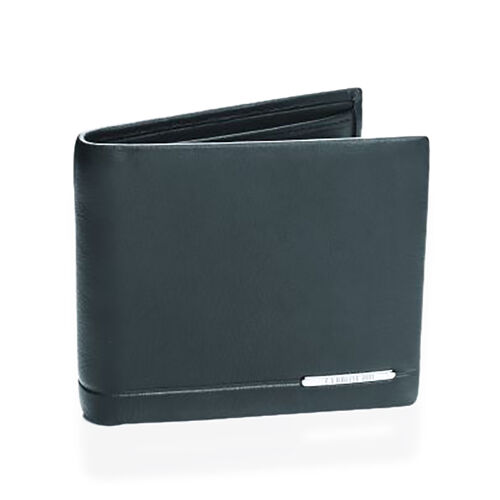 Close Out Deal - CERRUTI 1881 London Genuine Leather Black Colour Wallet (Size 11.5x9.5 Cm)