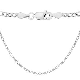 Sterling Silver Figaro Chain (Size 16), Silver wt 8.40 Gms