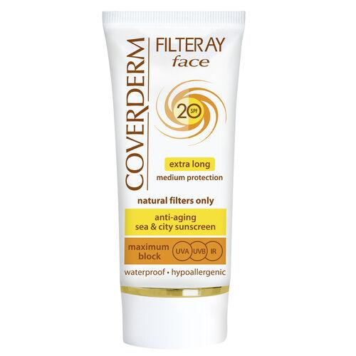 Coverderm: Filteray Face SPF20 (Light Beige) - 50ml