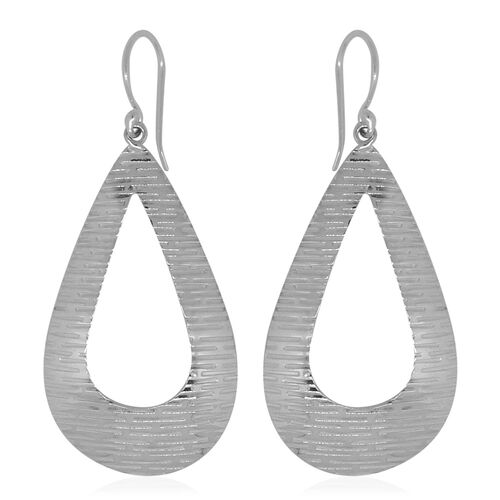 Royal Bali Collection Sterling Silver Drop Hook Earrings, Silver wt 5.60 Gms.