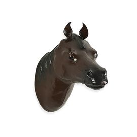 Handmade Horse Wall Hanging (Size 29x12x18 Cm) - Dark Brown Colour